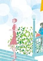 階段をのぼる女性 22987000168| 写真素材・ストックフォト・画像・イラスト素材|アマナイメージズ