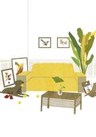 絵の飾ってあるリビング 22987000173| 写真素材・ストックフォト・画像・イラスト素材|アマナイメージズ