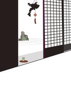 障子と枯山水 22987000176| 写真素材・ストックフォト・画像・イラスト素材|アマナイメージズ