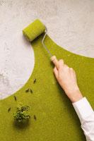 コンクリートを緑化するエコイメージ