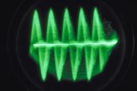 オッシログラフでとらえたアオマツムシの声
