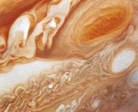 木星の大赤斑と乱流地域