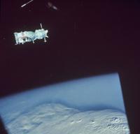 アポロ宇宙船から見たソユーズ