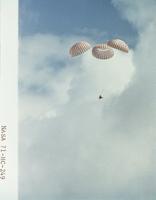 宇宙船 着水するアポロ14号