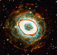 環状星雲M57 23018049046| 写真素材・ストックフォト・画像・イラスト素材|アマナイメージズ