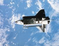 軌道上のスペースシャトル