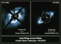 2つの星を取りまくガス円盤 23018049102| 写真素材・ストックフォト・画像・イラスト素材|アマナイメージズ