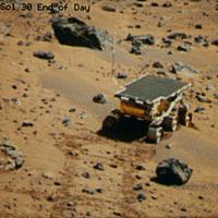 火星表面の探査車ソジャーナ