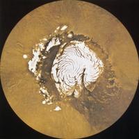 火星の北極冠