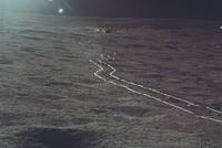 月面車(手押し車)の轍