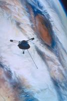 木星上空の探査機パイオニア