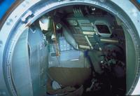 ソユーズ宇宙船内部(訓練用)