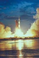 アポロ打ち上げ(サターン5型ロケット)