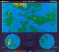 金星の地形図