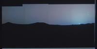 火星地平線の太陽