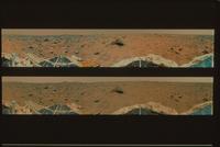 火星のパノラマ写真