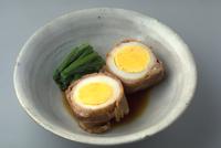 ゆで卵の肉巻煮