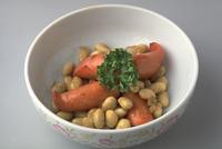 大豆とウインナーの炒め物