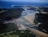 浦内川と宇那利崎