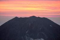 富士山と朝焼け