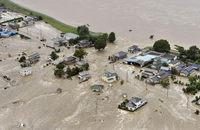 鬼怒川の堤防決壊