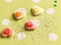 ハート型のキャンディ