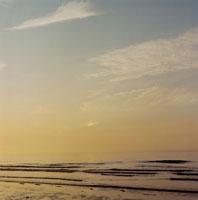 海岸での夕陽