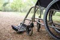 自然の中の車椅子