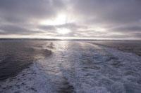 オホーツク海の夕陽