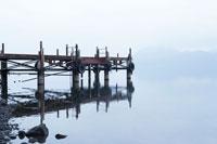 洞爺湖の湖畔