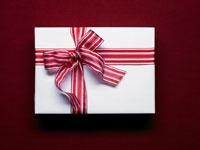 赤いリボンと白いギフトボックス 24035000138  写真素材・ストックフォト・画像・イラスト素材 アマナイメージズ