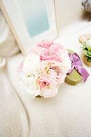 ボックスに入った花々