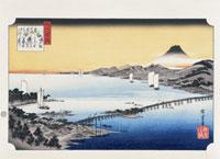 浮世絵 近江八景 瀬田夕照 25023041628| 写真素材・ストックフォト・画像・イラスト素材|アマナイメージズ