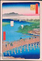 江戸百景 千住の大橋 25023065305| 写真素材・ストックフォト・画像・イラスト素材|アマナイメージズ