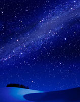雪原と星雲