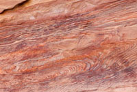 ペトラ遺跡 砂岩の文様 世界遺産
