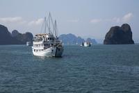 ハロン湾 クルーズ船 25023074755| 写真素材・ストックフォト・画像・イラスト素材|アマナイメージズ