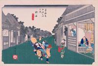 東海道五拾三次 御油 25026013096| 写真素材・ストックフォト・画像・イラスト素材|アマナイメージズ