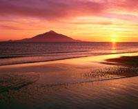 利尻富士の夕景