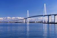 新湊大橋と立山連峰