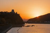 犬山城夕景