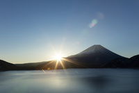富士山の朝日