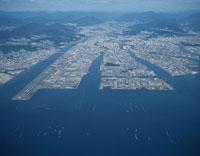 太田川の三角洲と広島市街