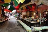 京東市場の屋台