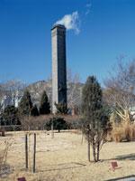 オンドルの煙突 景福宮の庭