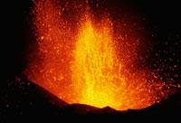 三原山噴火 内輪山