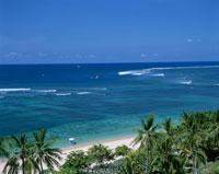 サヌールビーチを望む バリ島 インドネシア