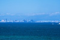 富津岬から川崎市街 25130023664| 写真素材・ストックフォト・画像・イラスト素材|アマナイメージズ