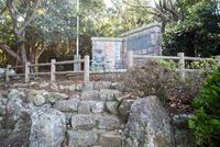 吟道之碑と武人像 25130023727| 写真素材・ストックフォト・画像・イラスト素材|アマナイメージズ