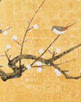 梅にウグイス 日本画風イラスト
